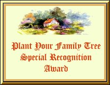 Plant Your  Family Tree Special Recognition Award