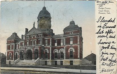 dodge county court house fremont neb color printed postcard ub. Cars Review. Best American Auto & Cars Review