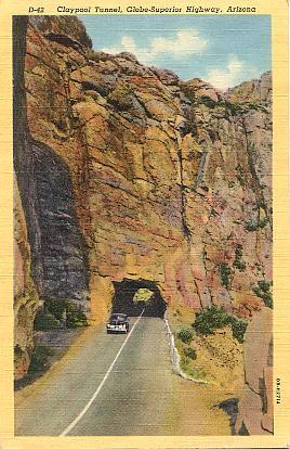 Globe-Superior Highway Arizona Claypool Tunnel Linen