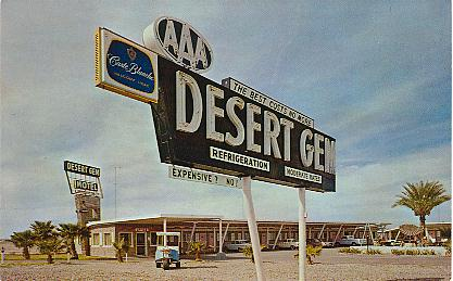 Desert Gem Motel Gila Bend Arizona Color Chrome Style Printed Postcard Published By Yuma Cards Ariz Henry Mcgre Printing
