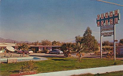 Yucca Motel East Side Of Gila Bend Arizona On U S Highway 80 Color Chrome Style Printed Postcard Published By Phoenix Specialty Adv Co