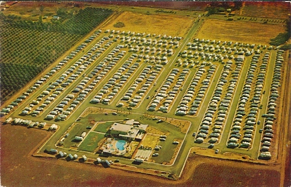Trailer Village Travel Park 3020 E Main Street Mesa Arizona Color Chrome Style Printed Postcard Published By Modern Printing