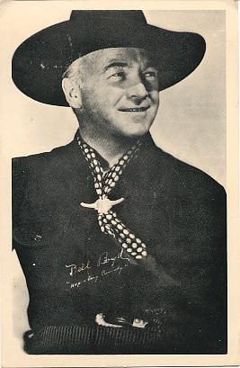 Hopalong Cassidy On Vintage Postcards