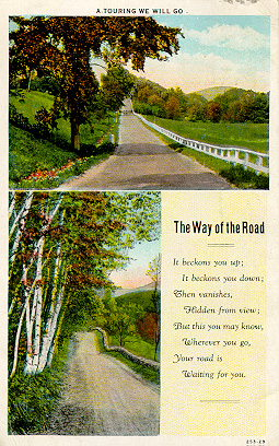 Postcard:  'The Way of the Road'