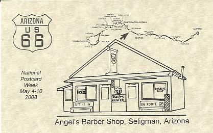 2008 . Angels Barber Shop, Seligman, Arizona, on historic U. S ...