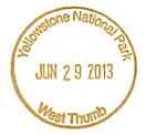 Yellowstone national park passport cancellation stamps for National passport processing center