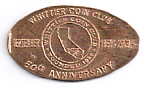 Whittier Coin Club.   50th Anniversary.   September   1959 - 2009.   Founded 1959