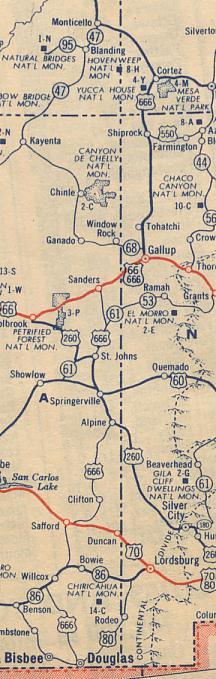 Historic U S Highway 666 on Vintage Postcards