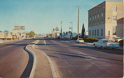 U S Highway 70 Safford Arizona Color Chrome Style Printed Postcard Published By F J Schaaf Alamogordo New Mexico Number 870 Unused
