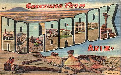 Vintage route 66 postcards