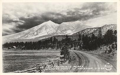 Historic U S Highway 66 Through Arizona On Vintage