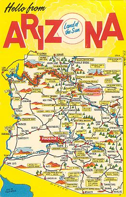 Historic U S Highway 66 Through Arizona on Vintage Postcards